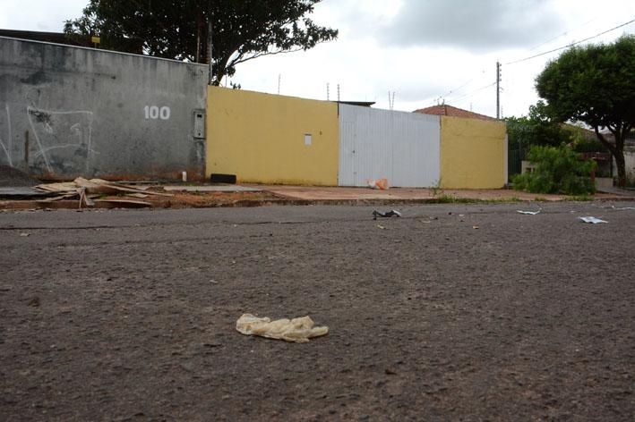 Casa onde túnel era escavado no Bairro Monte Castelo - Foto: Bruno Henrique/Correio do Estado