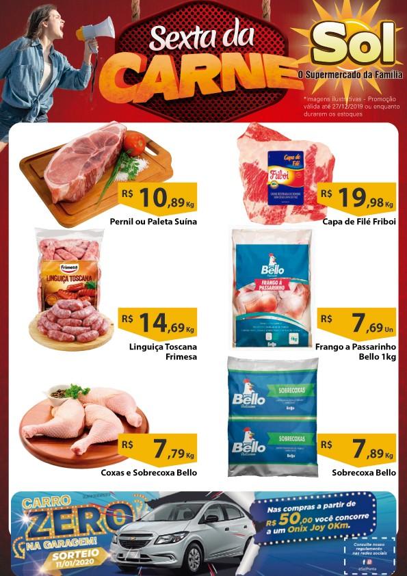 Supermercado Sol e as suas ofertas da Sexta da Carne, aproveitem