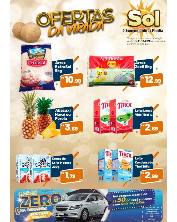 Supermercado Sol e as suas Ofertas da Virada