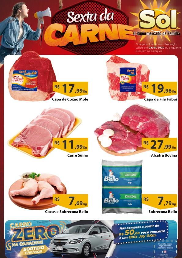 Supermercado Sol e as suas ofertas da Sexta da Carne