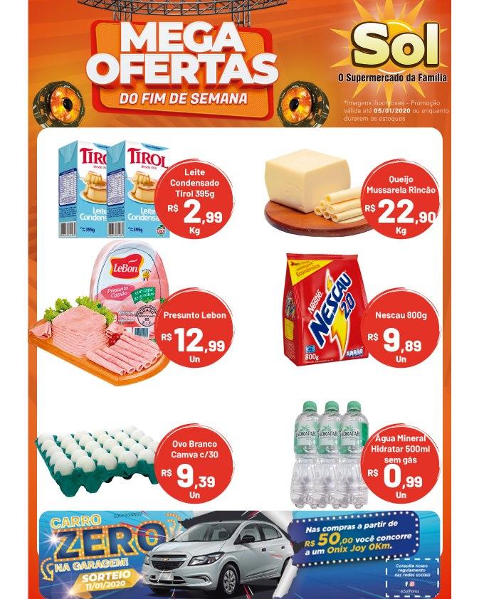 Ofertas do Supermercado Sol para este final de semana