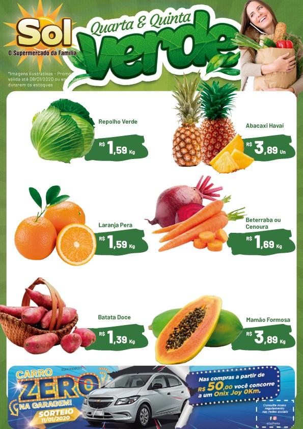 Supermercado Sol e as suas ofertas da Quarta e Quinta Verde