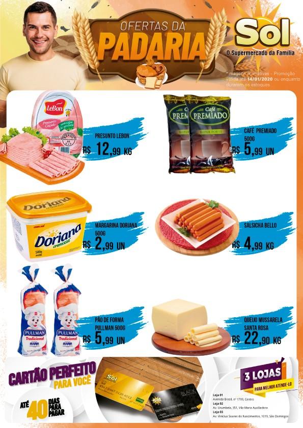 Façam suas compras nesta Terça da Carne com Osso e promoções na Padaria do Supermercado Sol