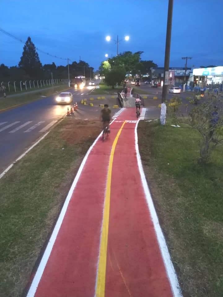 Ciclovia ganha novos adeptos para a prática esportiva e cria novo cenário urbanístico para Ponta Porã