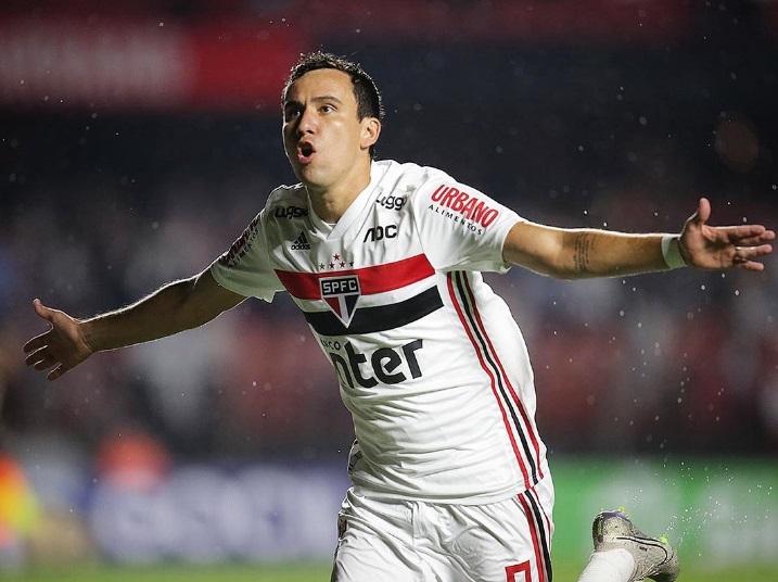 Pablo durante comemoração do seu gol, o primeiro da partida - Foto: Agência São Paulo