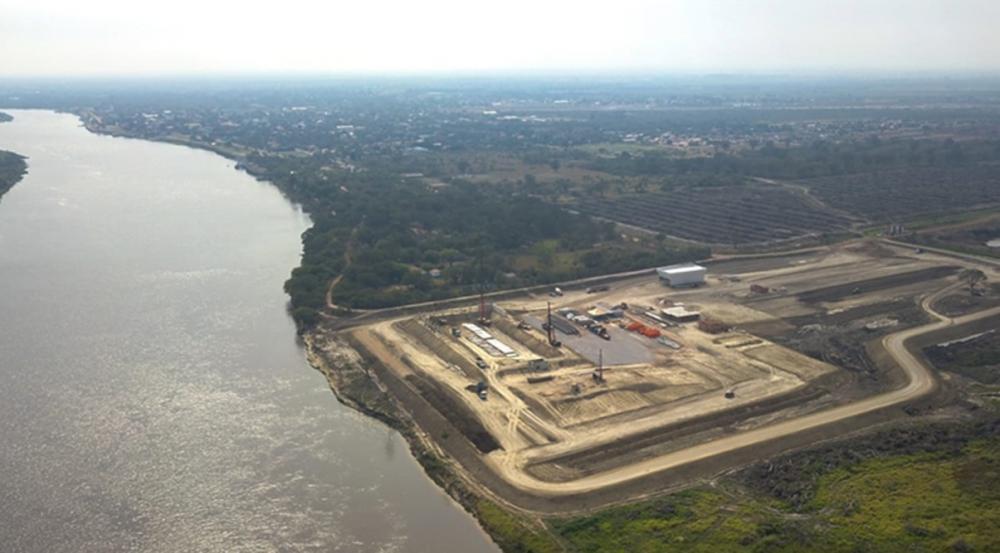 Obra de implantação do terminal da FV Cereais, em Porto Murtinho, está avançada - Foto: Foto: Divulgação