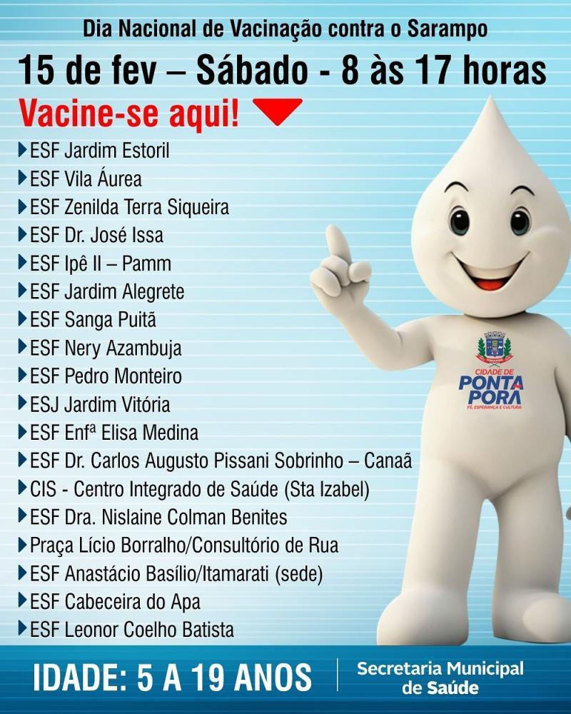 """Postos de saúde realizarão Dia """"D"""" de vacinação contra o sarampo"""