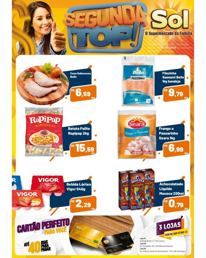 Ofertas da Segunda Top no Supermercado Sol