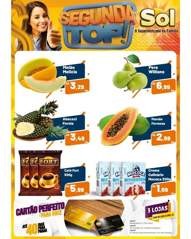 Façam suas compras nesta Segunda Top do Supermercado Sol