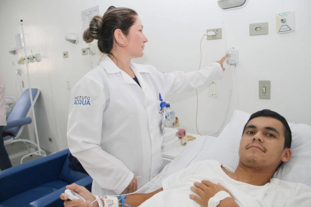 Hospital Ponta Porã Instituto Acqua campainha enfermaria