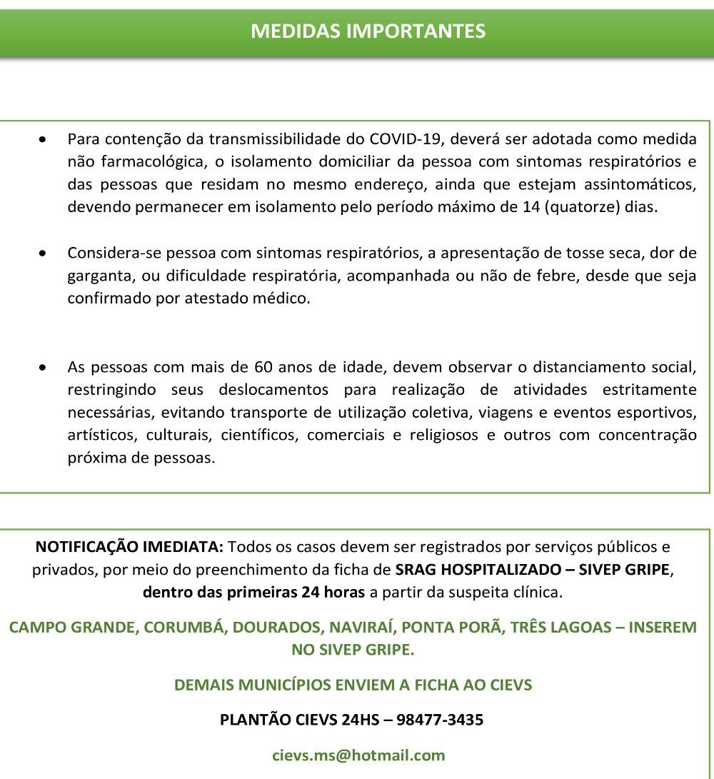 Casos COVID-19, Mato Grosso do Sul, 2020