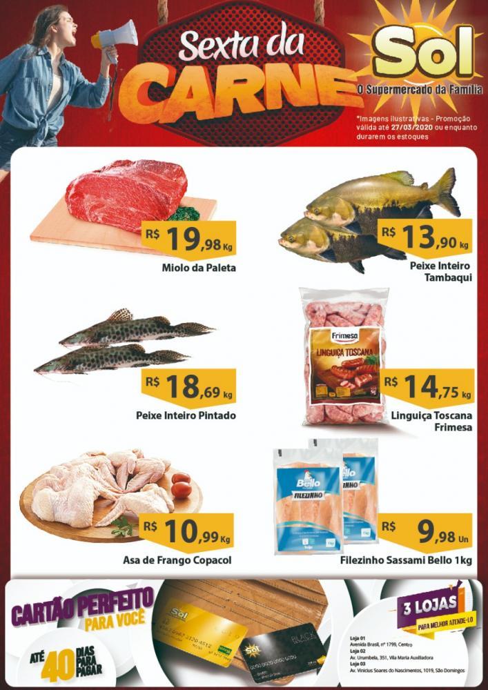 Ofertas da Sexta da Carne do Supermercado Sol