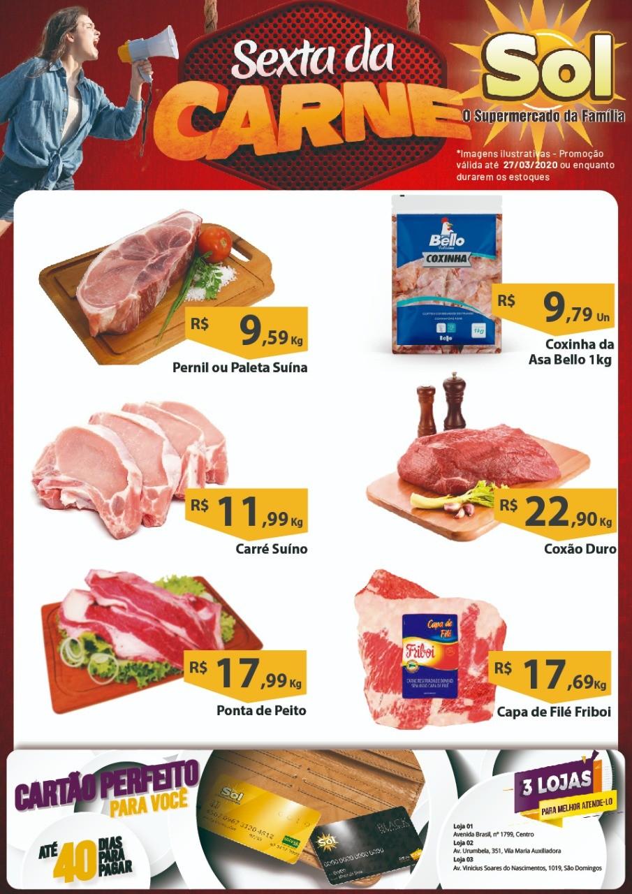 Façam suas compras nesta Sexta da Carne no Supermercado Sol e aproveitem suas ofertas