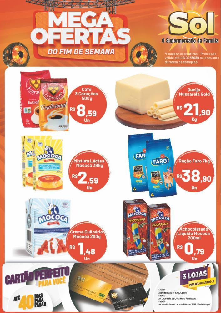 Ofertas de Fim de Semana do Supermercado Sol