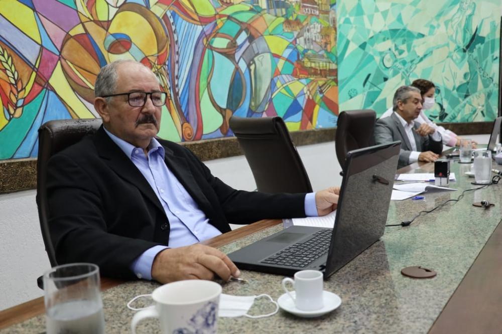 Presidente da Casa de Leis, Rony Lino comandou sessão ordinária realizada por meio da tecnologia
