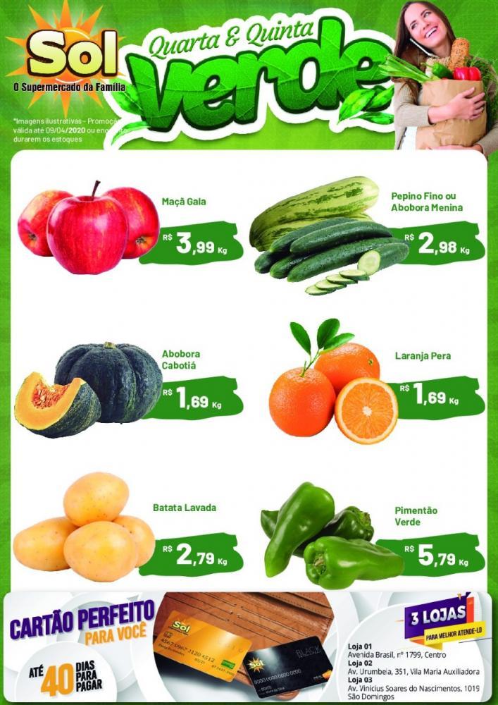 Ofertas desta Quinta Verde do Supermercado Sol