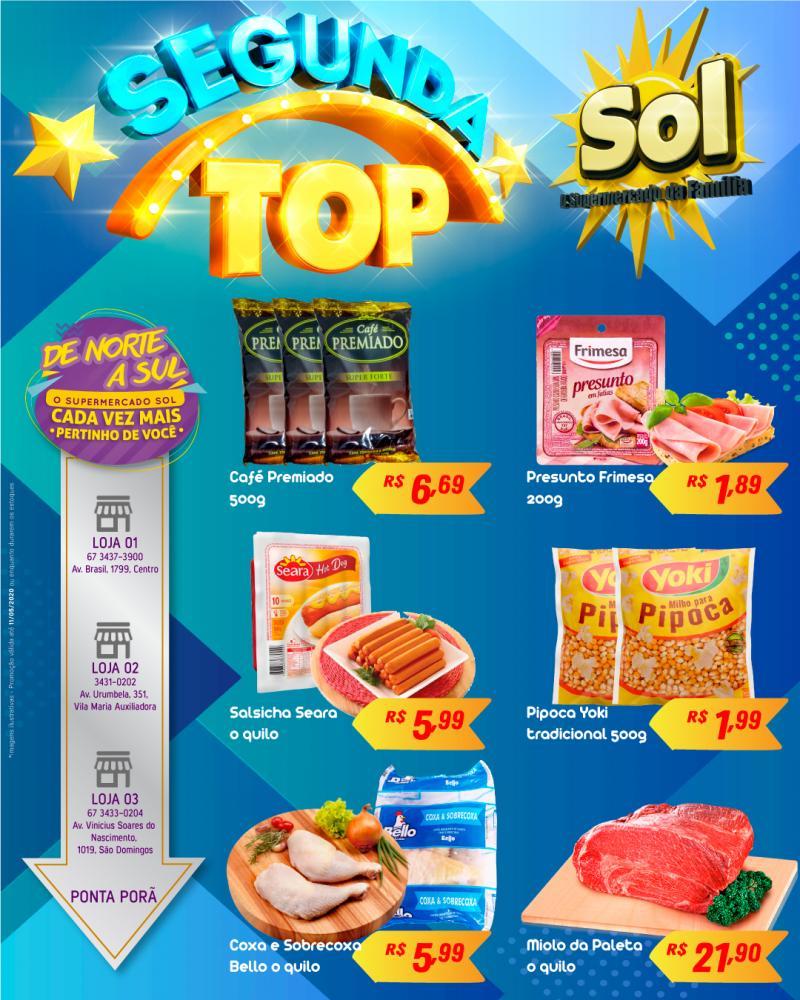 Ofertas da Segunda-feira Top do Supermercado Sol