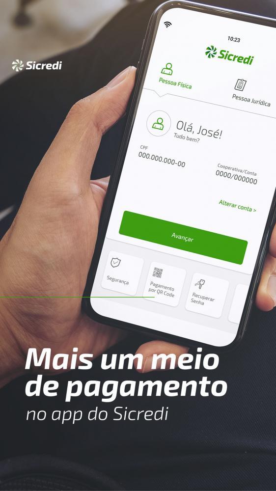 Mais um sistema de pagamento pelo Sicredi, QR Code