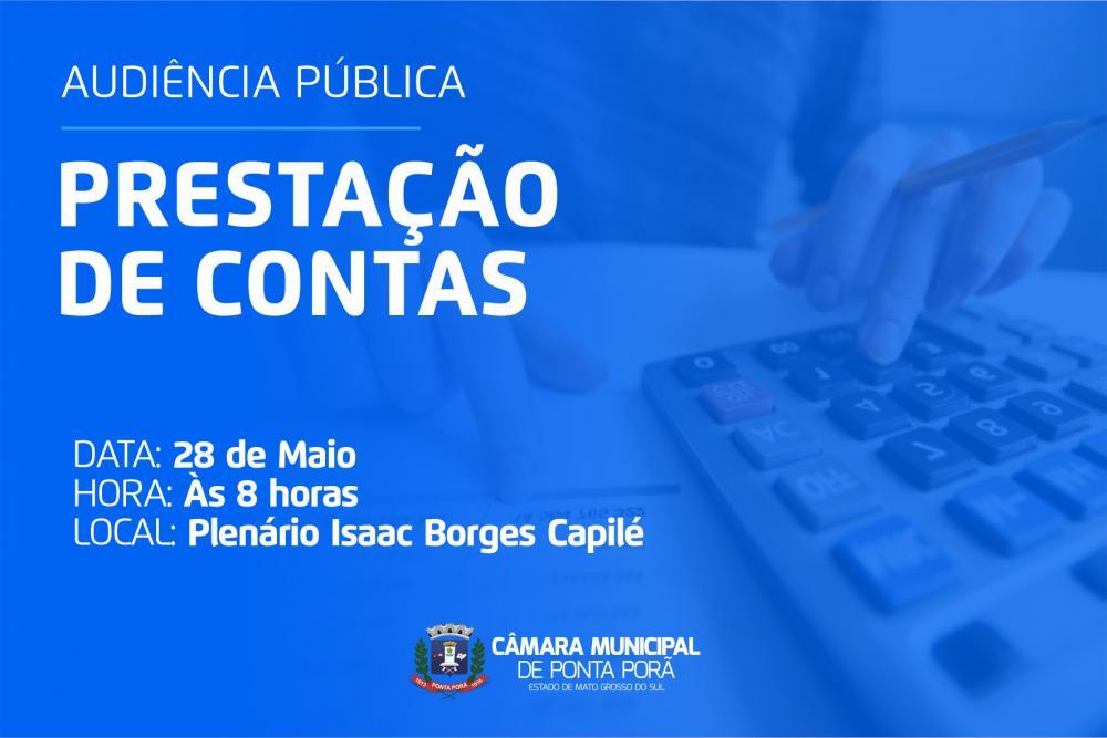 Câmara de Ponta Porã realiza audiência de prestação de contas nesta quinta-feira