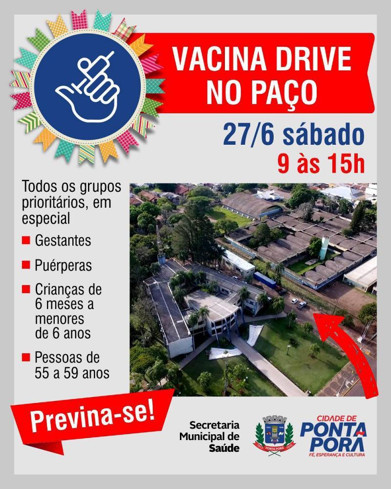 Prefeitura realiza Vacina Drive no sábado, 27