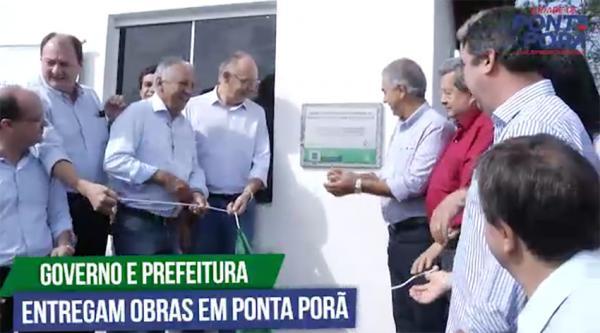 Governador Reinaldo Azambuja inaugura obras em Ponta Porã