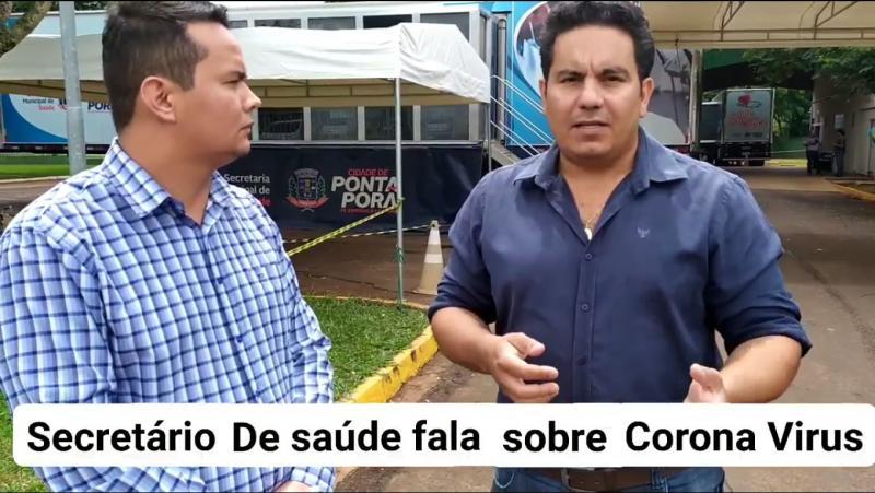 Dr. Patrick Derzi fala em entrevista ao vereador Edinho Quintana sobre o Corona Vírus
