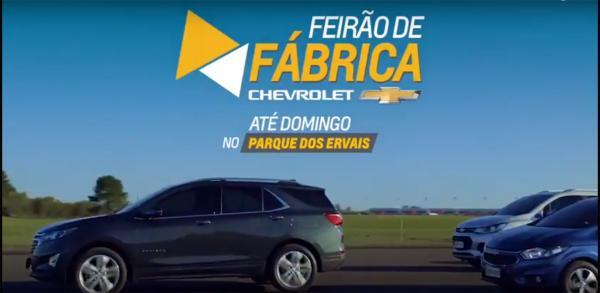 Feirão de fábrica Chevrolet até domingo no Parque dos Ervais em Ponta Porã