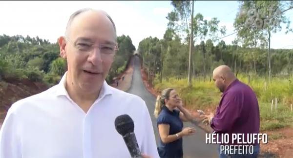 Hélio Peluffo anuncia a conclusão do asfalto da Vital Brasil